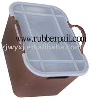 PE storage bin/plastic garden buckets with lid,pretty storage boxes