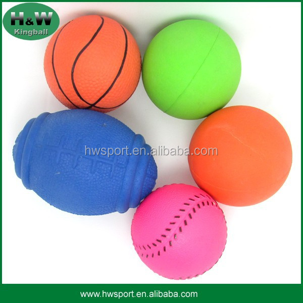 2016 colorful solid sponge rubber ball