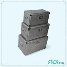 Big Wooden&Leather Cosmetic Storage Trunk