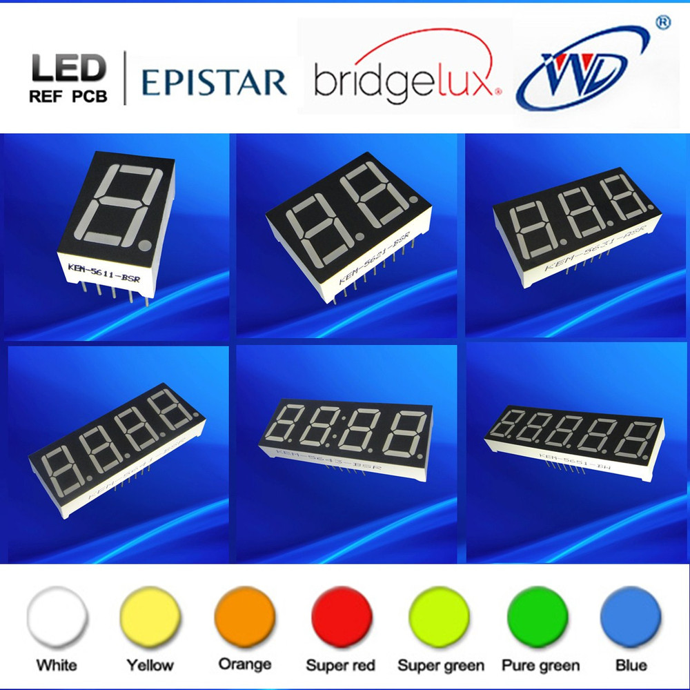 16 segment and /14 segment 2 digit alphanumeric led displays