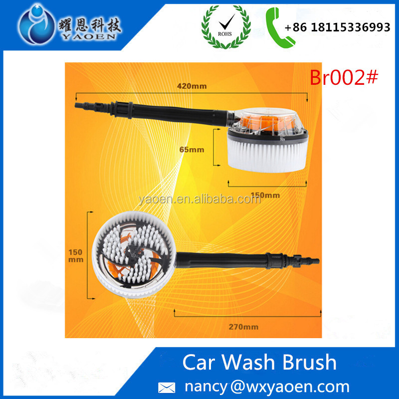 Pressure Washing car wheel tire brush