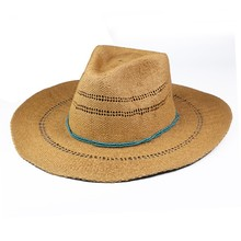 Wholesale Customized Logo Band Paper Straw Cowboy Hats