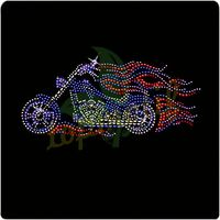 Greatest Crystal Motorcycle Hot fix Stones Motif,Rhinestone Transfer Iron Ons
