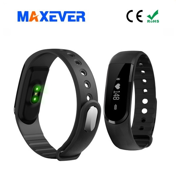 IPX67 Professional Waterproof Bluetooth 4.0 Sport Pedometer Heart Rate Smart Bracelet D101