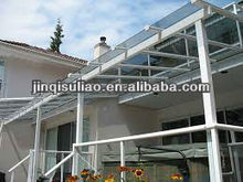 Hot-selling Black/ Brown PC Polycarbonate Canopies and used aluminium/plastic alloy Awnings price
