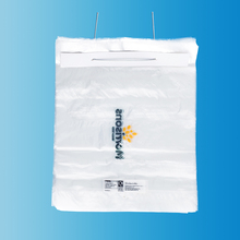 customized disposable plastic LDPE ice cube freezer bag with wicket