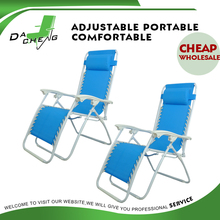 Folding steel sling deck chair