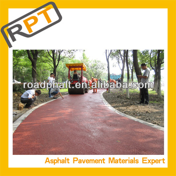 red mixture bitumen for parking
