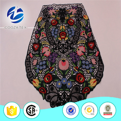 High quality multi color guipure embroidery lace fabrics
