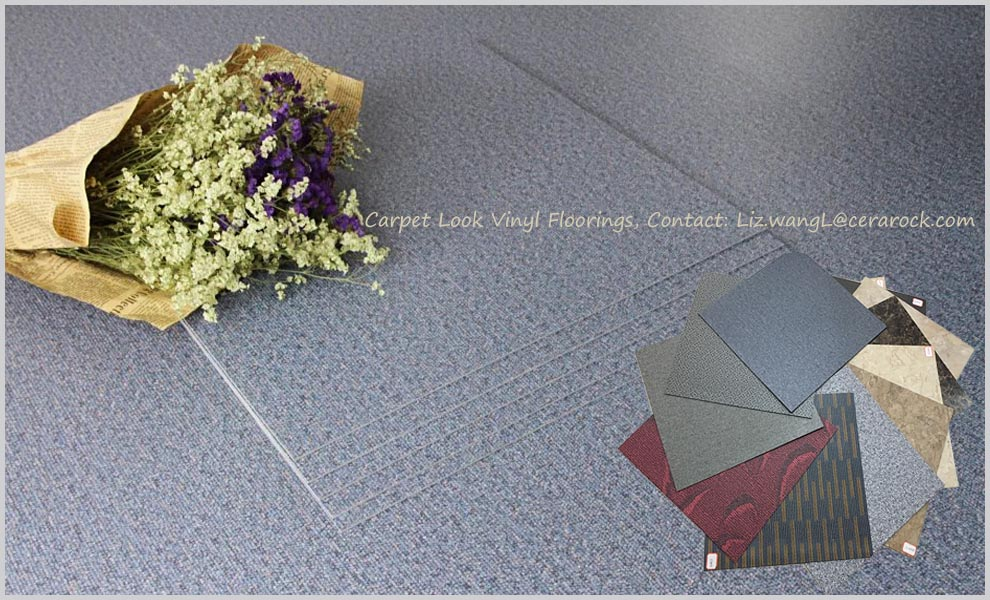 457x457x2.0mm/0.07mm wear layer pvc plastic carpet floor tile