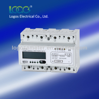Three phase meter modbus rs485 remote control electric meters din rail mouted three phase and single phase