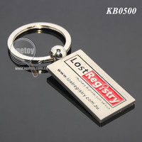 Rectangle Shaped Engraved Lost Registry Australia Souvenir Laser Code Hopping Custom Made Metal Keychain
