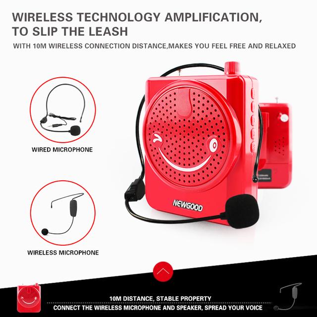 multifunction megaphone Smile face microphone pa amplifier speaker