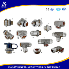 Stainless steel Brass Aluminum PPR union joint hydraulic tube and joint pipe fitting