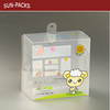 folding plastic gift pvc/pe/pp box with single hanger hole for gift packaging