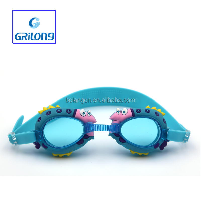Swimming goggles with diopter Security children free sample with case