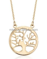 14kt Yellow Gold Tree of Life Pendant Necklace for Wholesale
