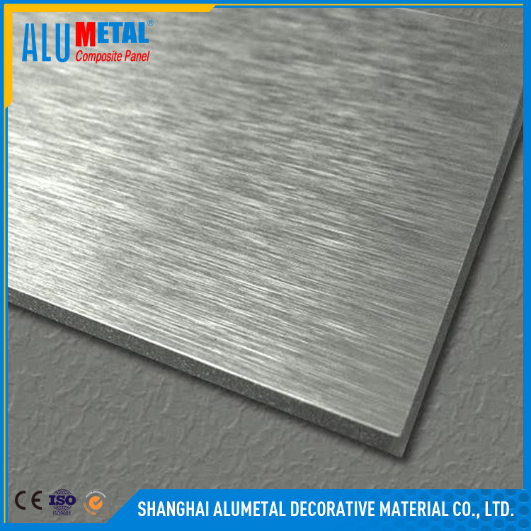Building material curtain wall decoration brushed Aluminum composite panel
