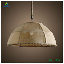 Fabric/Flax Shade Pendant Light/Lamps With Edison bulbs ST64/A19 for home decoration