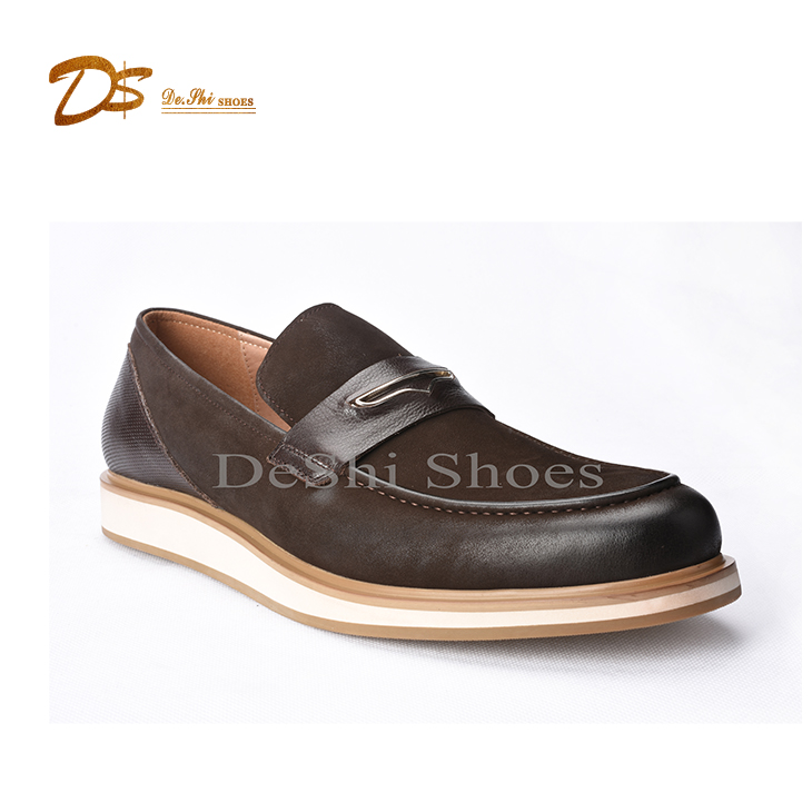 Fashion online shopping men casual flat leather moccasin shoe