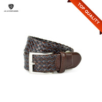 High Quality Braided Men Used Leather Belt Making Supplies/Belt for Jean