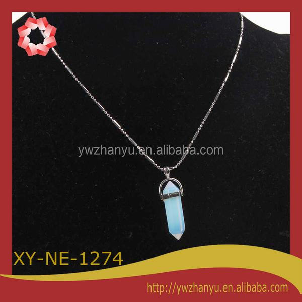 2014 hot sell opal stone necklace jewelry