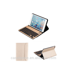 Business leather table case with aluminum alloy wireless blurtooth keyboard for iPad mini 4