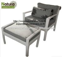 Modern Handmade Outdoor Rattan Leisure Chairs with Ottoman