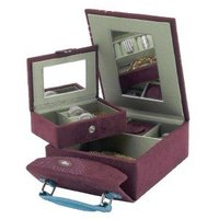 2010 purple leather jewelry box