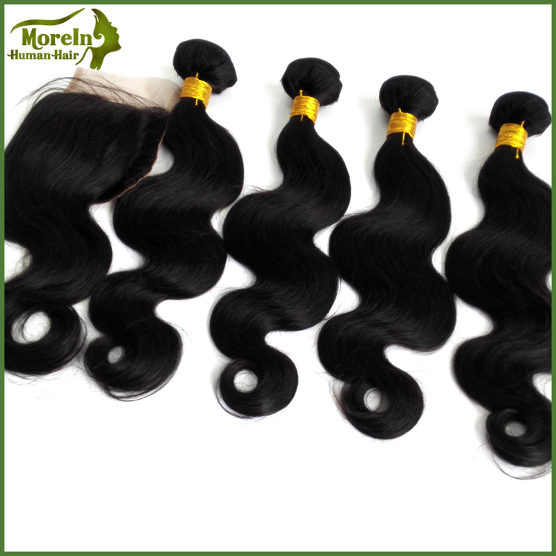 100% Indian hair natural color body wave hair weave manufacturers