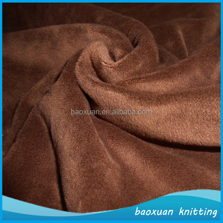 100 polyester one side brushed fleece fabric supersoft short plush fabric