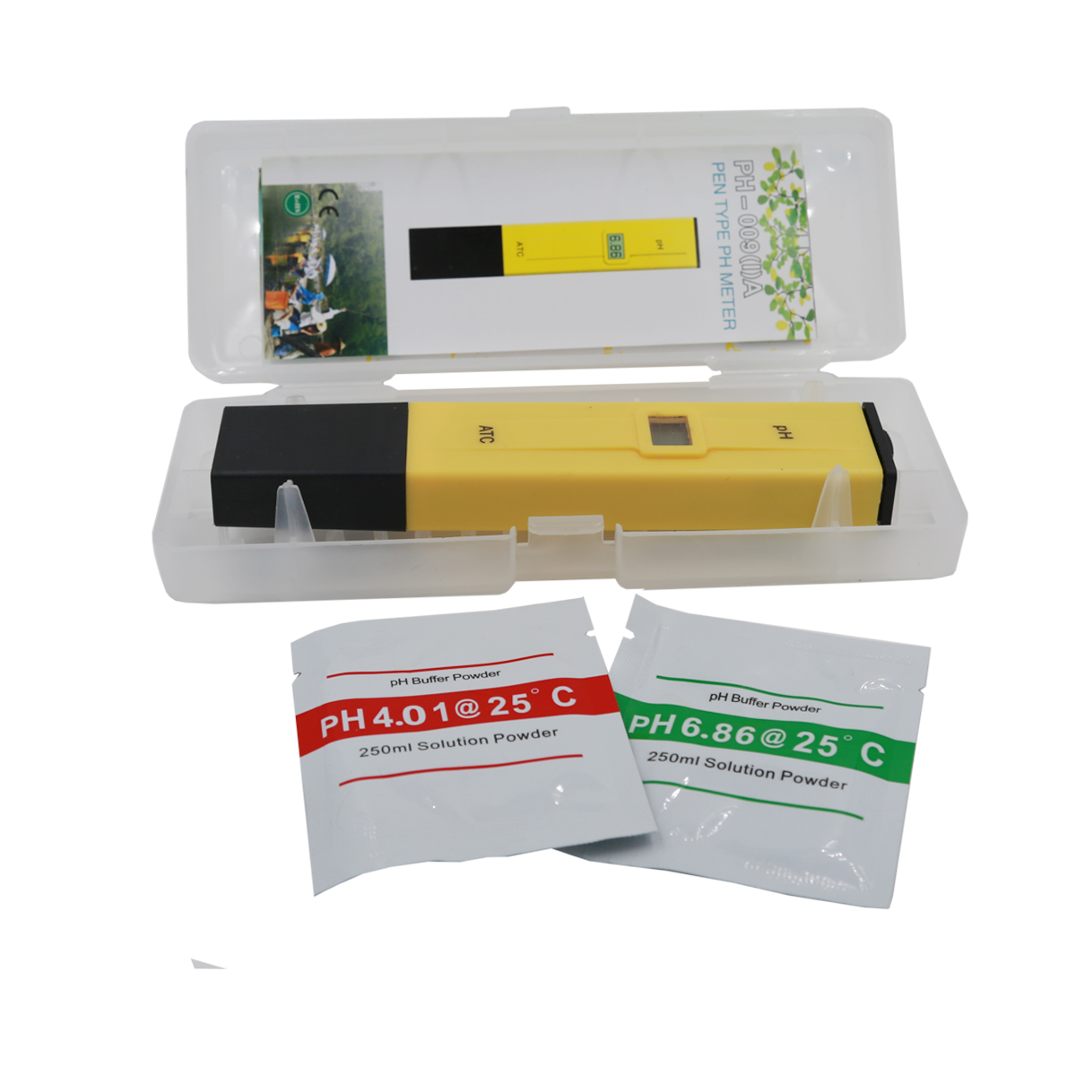 Portable Pocket PH Pen Water quality Tester Digital PH Meter 0.0-14.0 pH for Aquarium Pool Water Laboratory with retail box