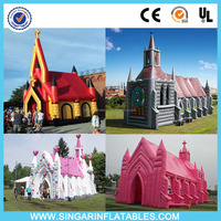 Promotional customized inflatable church tent for wedding rental