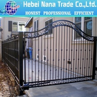 Best quality home garden wrought iron fence / Removable Garden Fence Gate