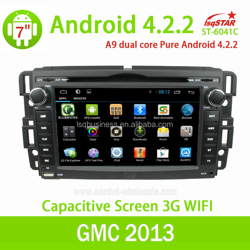 Wholesale Capacitive Screen 3G Wifi for GMC 2007-10 Yukon Denali pure Android 4.2.2 Car Dvd with Gps navigation