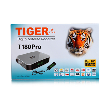 Tiger I180 Pro DVB S2 mini satellite receiver Full hd 1080p with 2 year iks