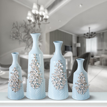 High quality wholesale blue ceramic vase for home decor from Jingdezhen