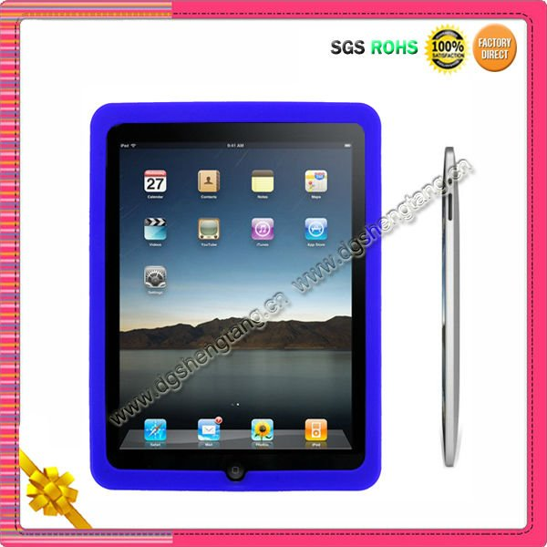 Cheap flexible silicone protective case for Ipad2 cover