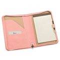 Various Colors Business Promotion Gifts Zipped Leather Fashion Padfolio