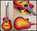 16inch fully handmade solid wood cutaway jazz guitar