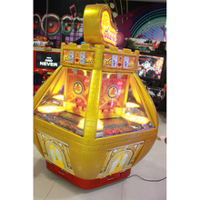 amusement park popular style golden colour coin pusher lottery ticket game machine for hot sale