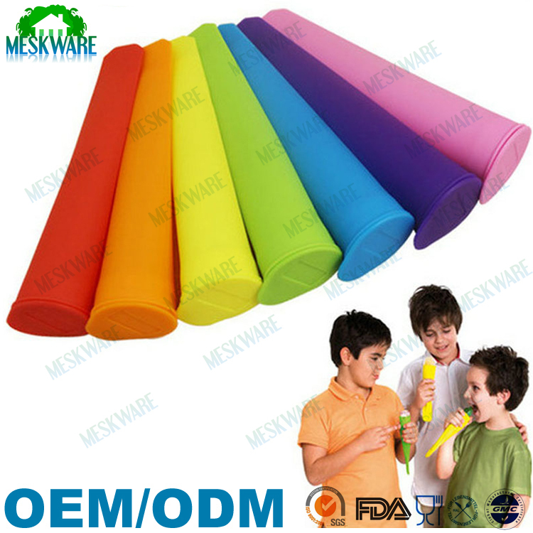 Newest design BPA free colorful silicone ice pop