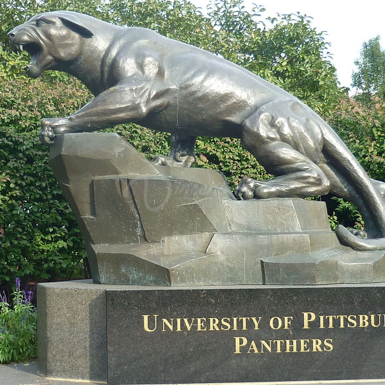 2015 modern lawn decor bronze plush black panther statue for sale