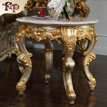 wood furniture design round table classic luxury style furniture small dining table