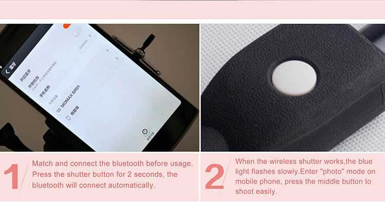 Aluminum alloy bluetooth selfie stick for mobile phone, camera