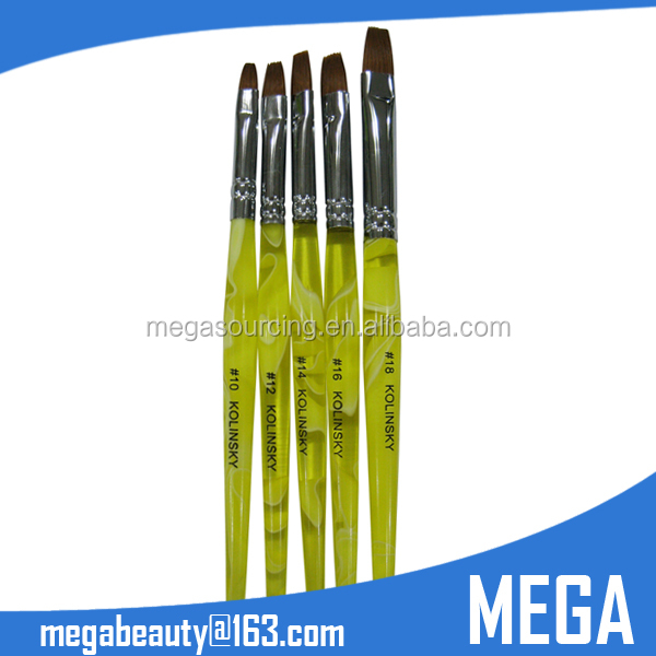 100% Sable Kolinsky Acrylic Nail Art Brush Nail Pen