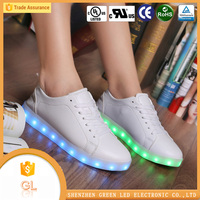 PU leather flashing led shoe lights new products for 2016 adults led shoes sneakers