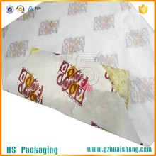 Fried Chicken / Fired Food Paper Bag With Food Grade Greaseproof Paper