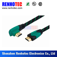 3D 19 Pin 90 Degree Bulk Cable HDMI Cable for HD TV