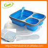 Folding Silicone Collapsible for Travel Camping Lunch Box